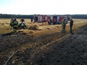 Pożar ścierniska w Jerzkowicach