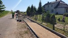 Budowa chodnika w Nożynku