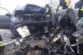 Wypadek drogowy na odcinku drogi Unichowo – Kartkowo
