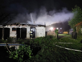 Pożar budynku gospodarczego w Rokitkach