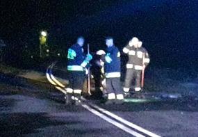 Pożar samochodu w Kleszczyńcu