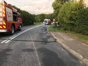 Wypadek motocyklisty w Nożynie